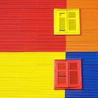 Colorful wall in La Boca, Buenos Aires