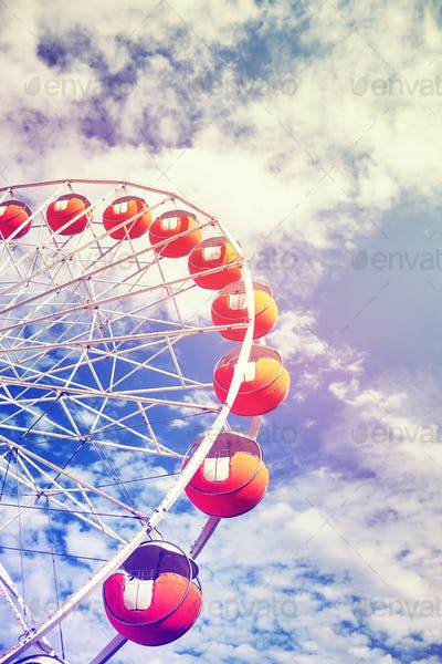 Vintage toned picture of a Ferris wheel