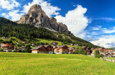 Dolomiti - Corvara in Badia small town