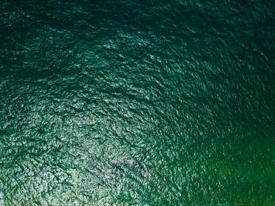 Top view of the surface of the ocean