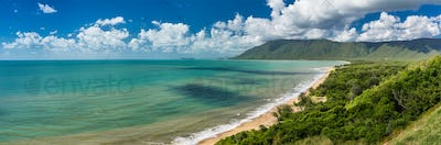 Daintree Cape Tribulation - sunny beach on Australian Coast in Q