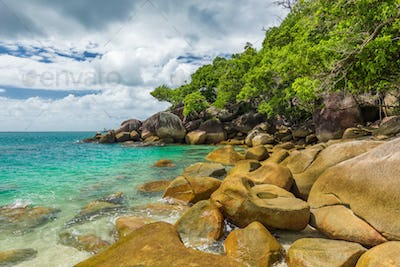 Nudey Beach on Fitzroy Island, Cairns area, Queensland, Australi
