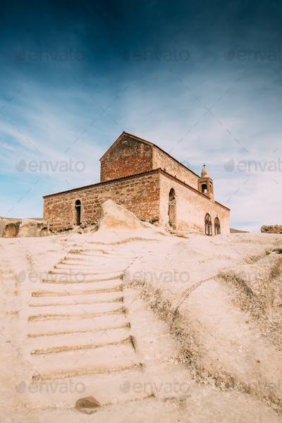 Uplistsikhe, Shida Kartli Region, Georgia. Stone Staircase To Up