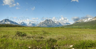 Panorama of East Entrance to Glacier National Park