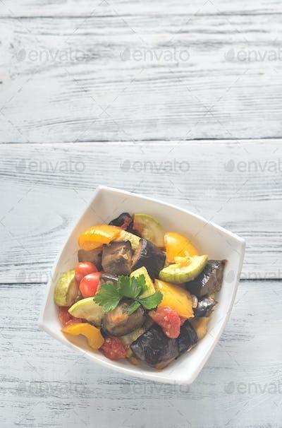 Bowl of ratatouille
