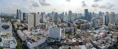 Panorama Bangkok City, Nana and Sukhumvit Road, Aerial Photography