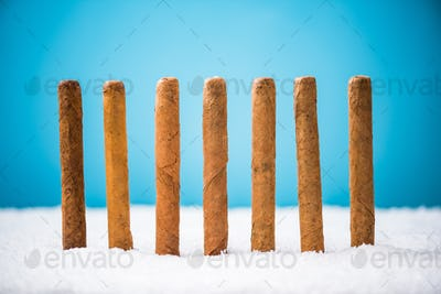 Cuban Cigars in snow, Christmas gif idea