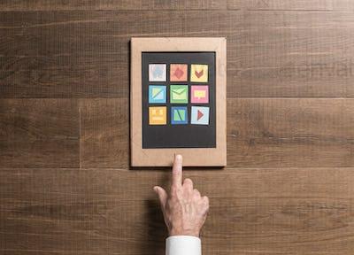 Eco-friendly cardboard tablet
