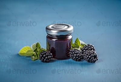 Homemade blackberry jelly