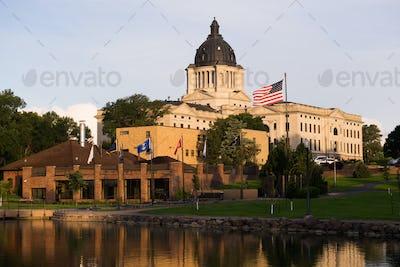 Sun Rising South Dakota State Capital Buildingg Hughes County Pie