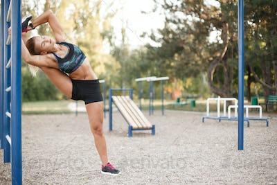 Street stretching workout