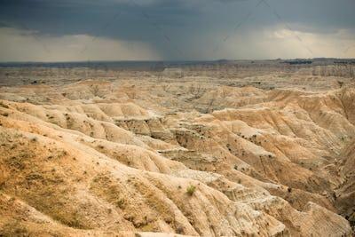 Storm Over Badlands National Park South Dakota Western Skies