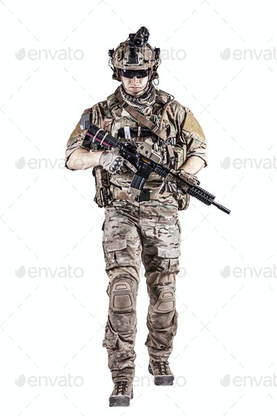 US Army Ranger with weapon
