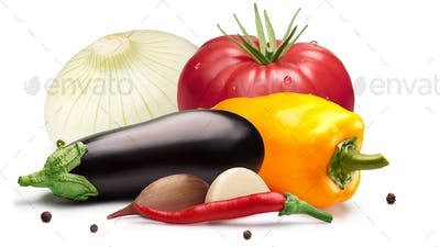 Tomato, bell pepper, eggplant for canning,  paths