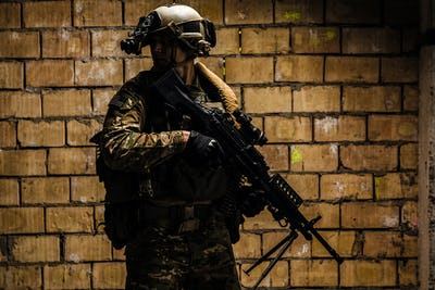 US Army Ranger with machinegun