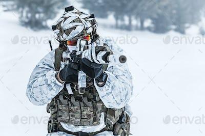 Winter arctic warfare