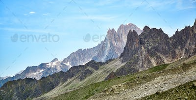 Landscape of French Alps