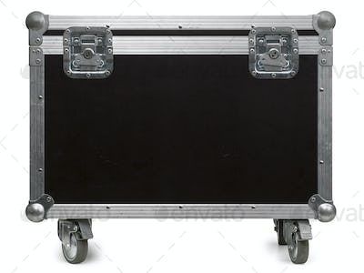 Equipment flight case with wheels