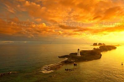nassau, bahamas at dawn