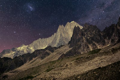 Night Landscape of mountains