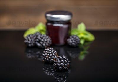 Ripe blackberry fruit