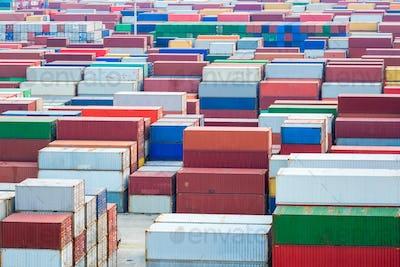 container yard closeup