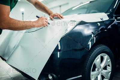 Automobile paint protection film installation