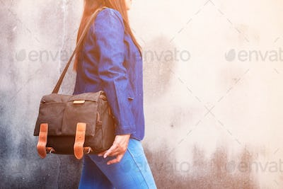 fashion of jeans and handbags