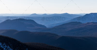 Top of Richardson Mountain in National Park of Gaspe in Quebec,