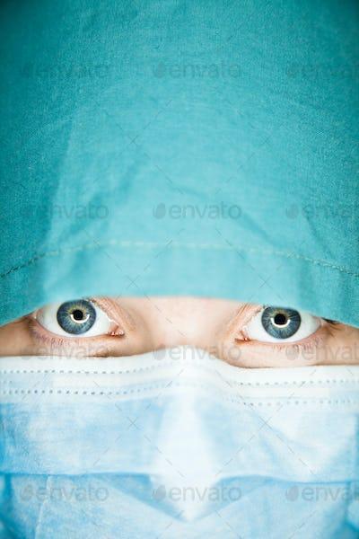 Abstract Nurse Face