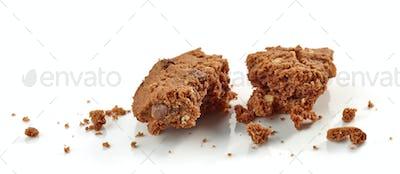 crumbs of chocolate cookie