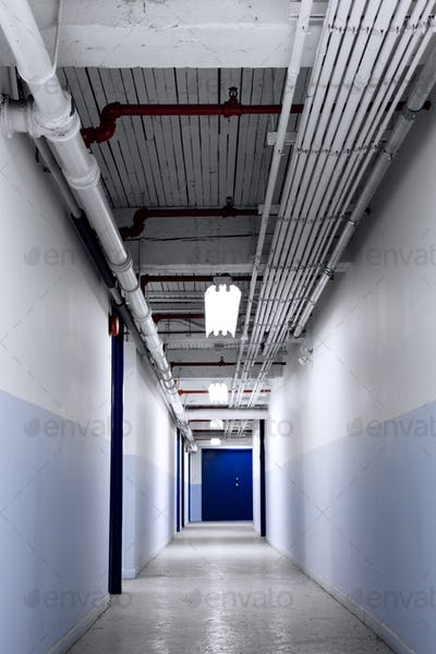 Long Blue Corridor