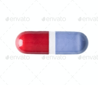 Closeup of Red an Blue Tablet