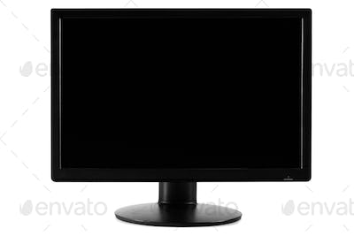 Black Screen of a Computer Screen Monitor