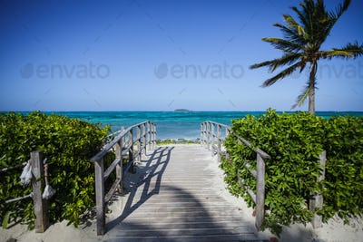 Bridge with a Desert Island in Background