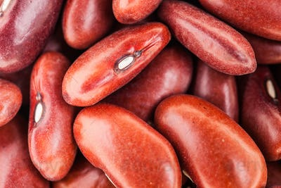 Extreme Closeup Texture of Red Beans