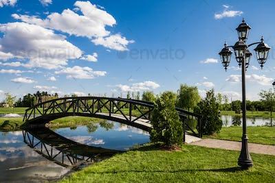 Little Bridge Over a Pond