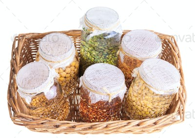 Basket of Soaked Sprouting Seeds
