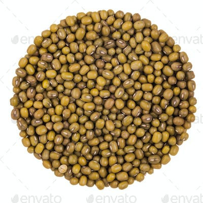Perfect Circle of Green Peas