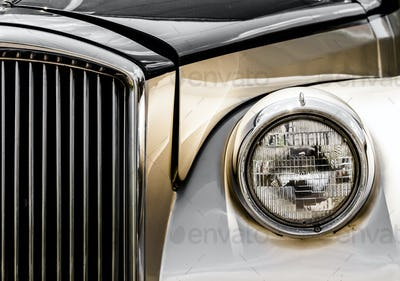 Shiny Antic Limousine Closeup of the Front