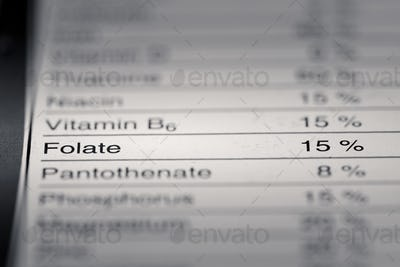 Shallow depth of Field image of Nutrition Facts