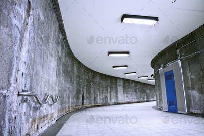 Underground Grunge metro corridor - no people