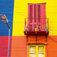 Colorful house in La Boca, Argentina