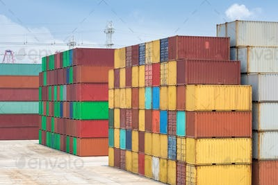 shipping container stack yard