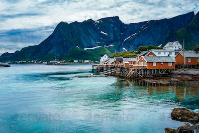 Lofoten archipelago islands Norway
