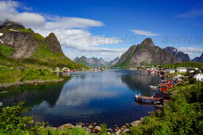 Lofoten archipelago islands Norway