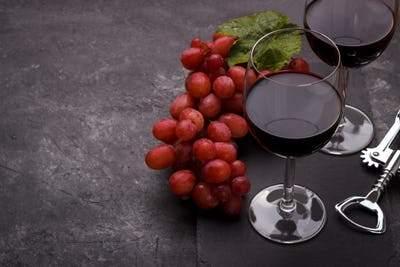 Red glass of wine