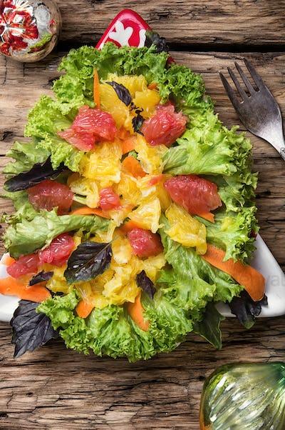 Christmas salad with citrus