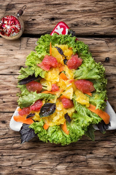 Christmas salad with citrus