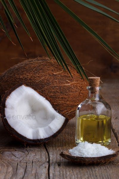 Close up of coconut oil